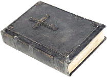 bible imprinted with cross.cm2